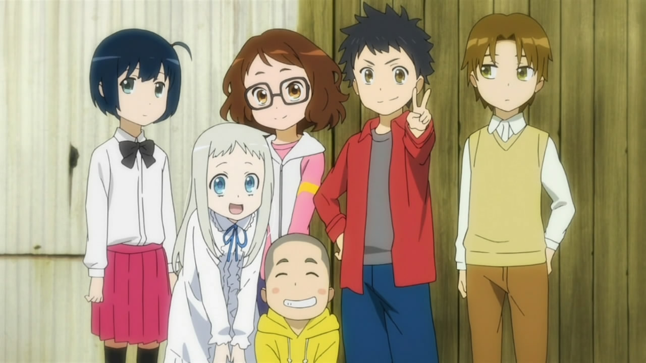 5 Cute Girl Anime Characters 20140622968 in addition Anime Spotlight Anohana The Flower We Saw That Day moreover 220272 besides 2141033729090564001 as well Watch. on anohana the flower we saw that day