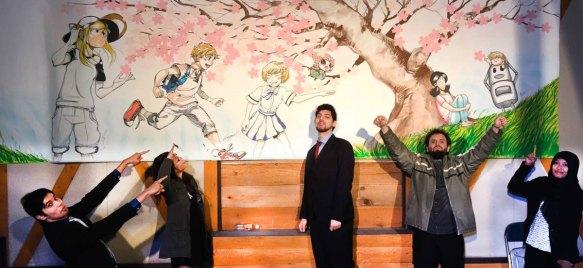 Max Andrade (segundo da direita para esquerda) com outros vencedores no Japão